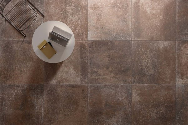 Maremma Brown tiles Country style Living