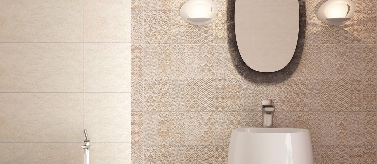 marvin Brown, Ivory and Mix tiles Modern style Bathroom