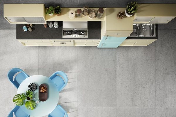 maximus basaltina stone Grey tiles Modern style Kitchen