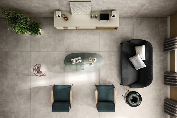 maximus basic concrete xl Grey tiles Modern style Living
