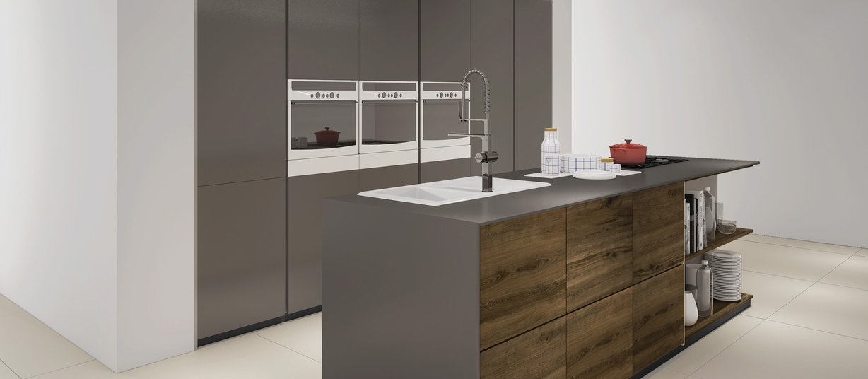 Maximus classic Brown and Ivory tiles Modern style Kitchen