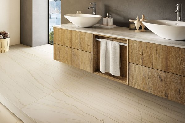 maximus macaubas Beige tiles Modern style Bathroom