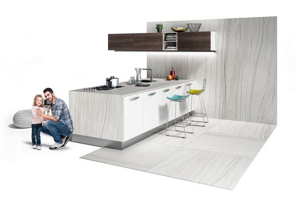 maximus macaubas White tiles Modern style Kitchen
