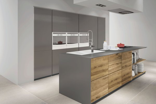 maximus uni Grey and Ivory tiles Modern style Kitchen