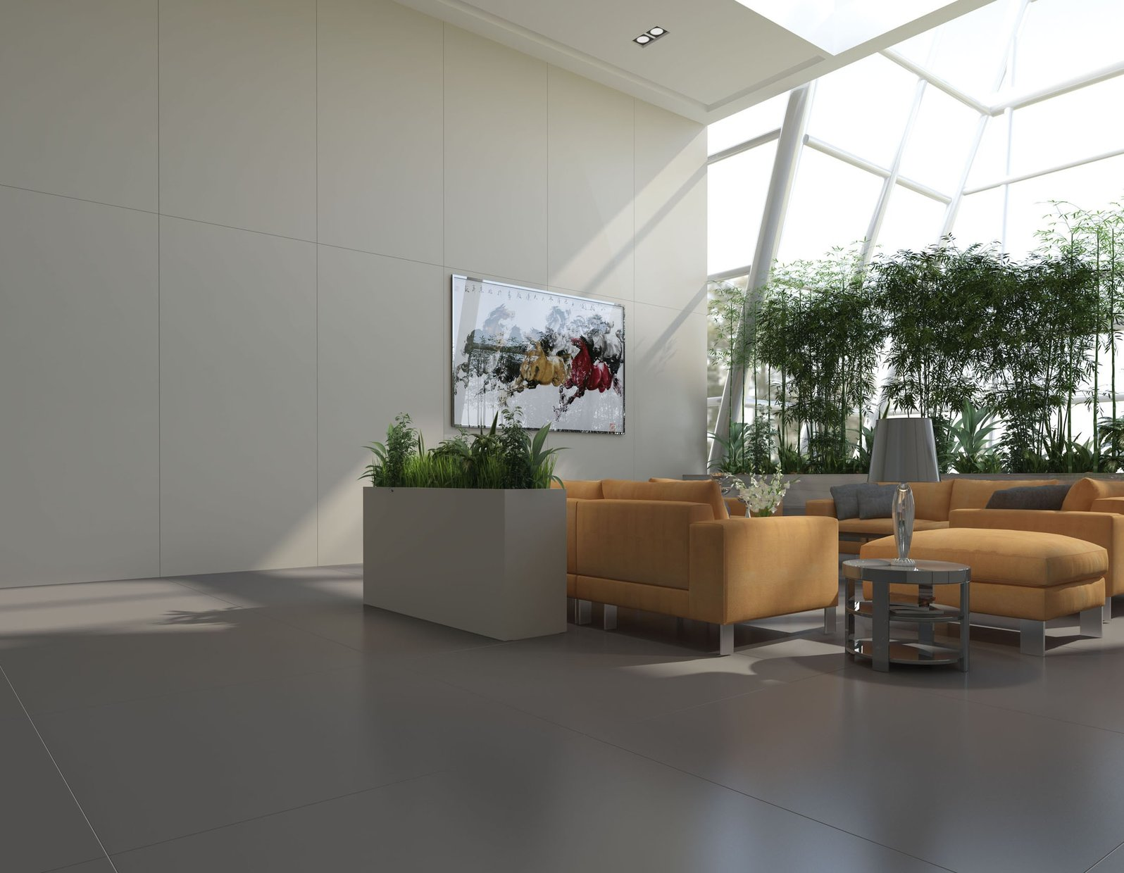 maximus uni White tiles Modern style Living