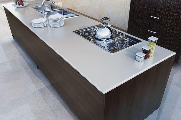 maximus uni White tiles Modern style Kitchen