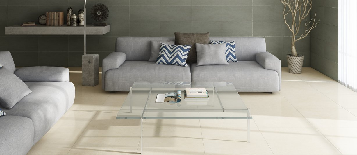 Newport Grey and Ivory tiles Classic style Living