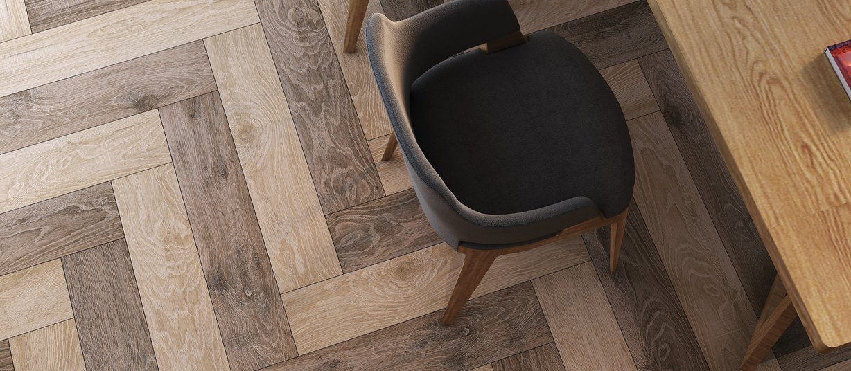 Nobo wood Beige and Brown tiles Modern style Living
