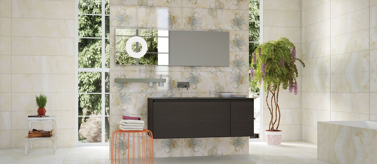 Onyx avion Beige tiles Modern style Bathroom