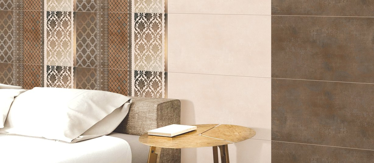 panama Brown and Mix tiles Modern style Living