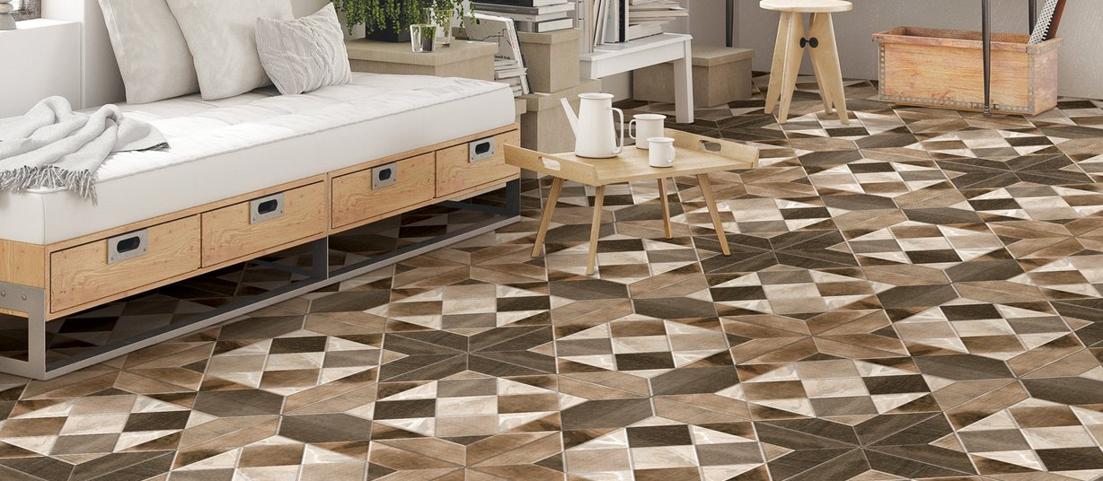peridot Brown and Mix tiles Modern style Living