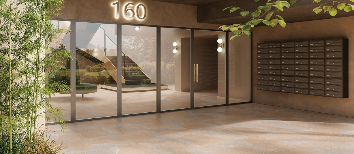 pietra piasentina Beige tiles Modern style Light Commercial