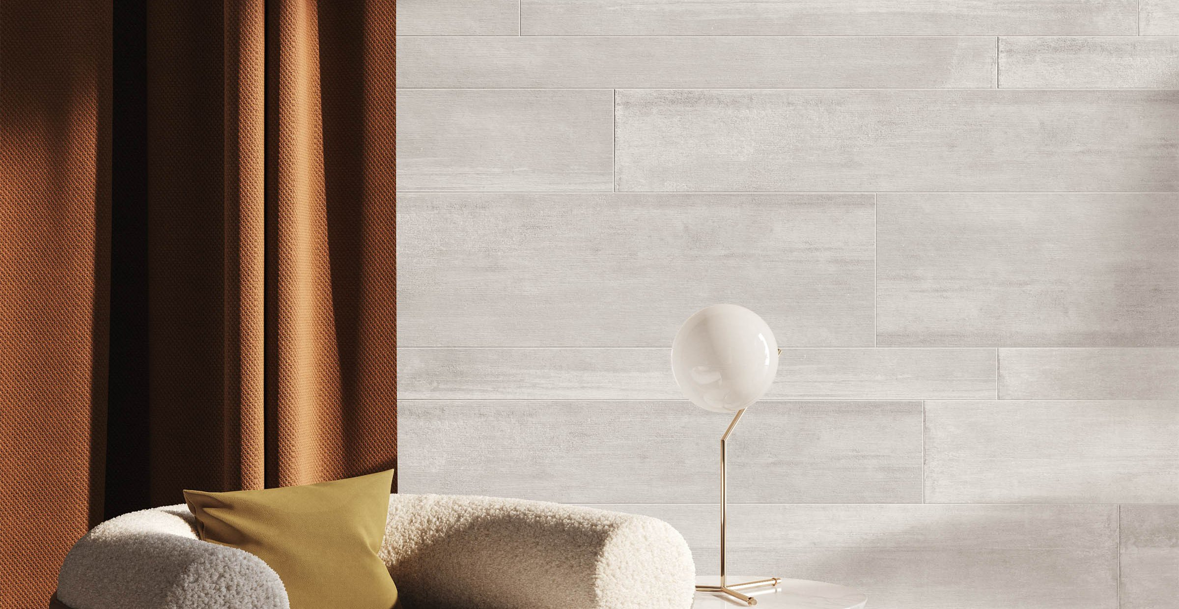 plank wood Beige and Grey tiles Modern style Living
