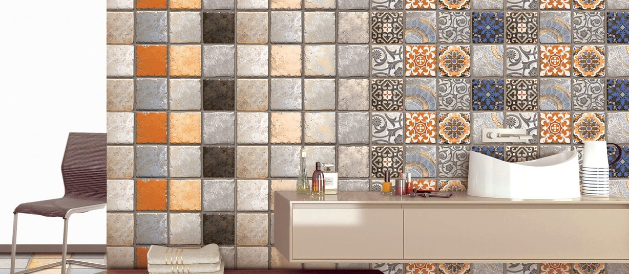 portugal Mix tiles Modern style Bathroom