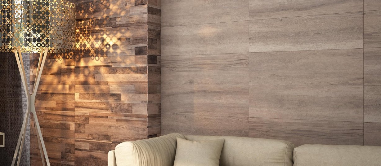 quebic wood Beige and Mix tiles Modern style Living