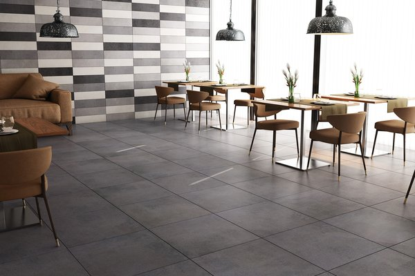 revive concrete Grey tiles Modern style Light Commercial