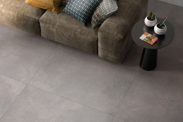 revive concrete Grey tiles Modern style Living