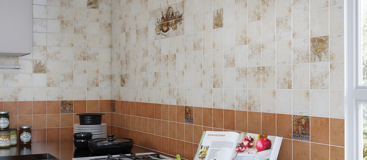 rolt Ivory tiles Country style Kitchen