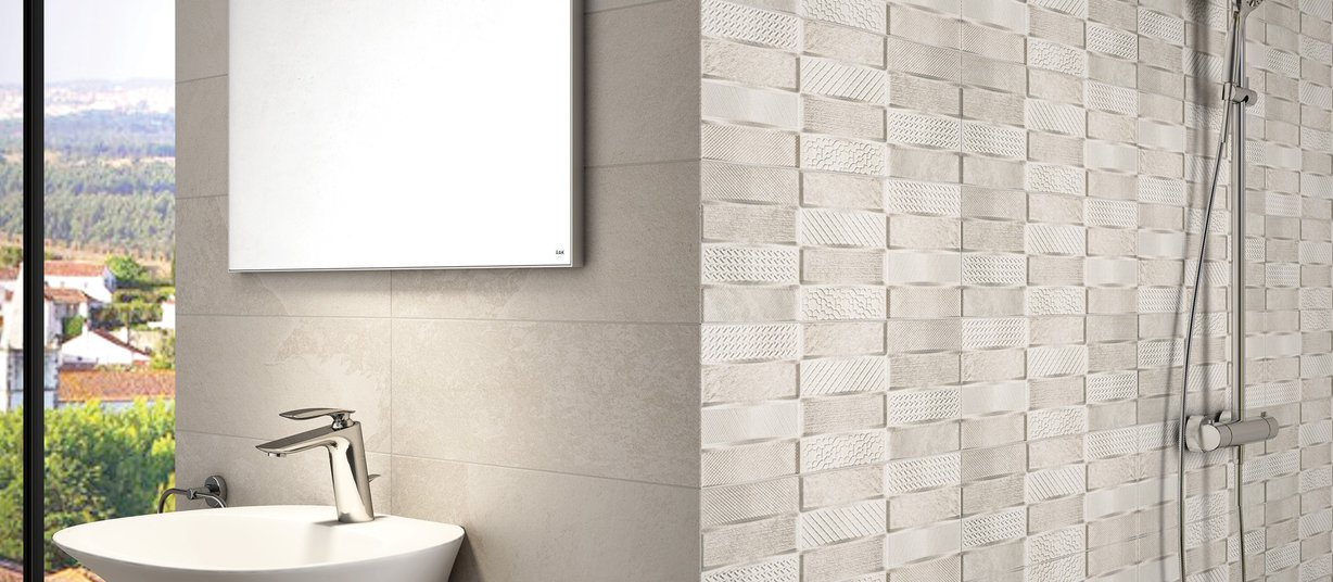 Root Beige tiles Modern style Living