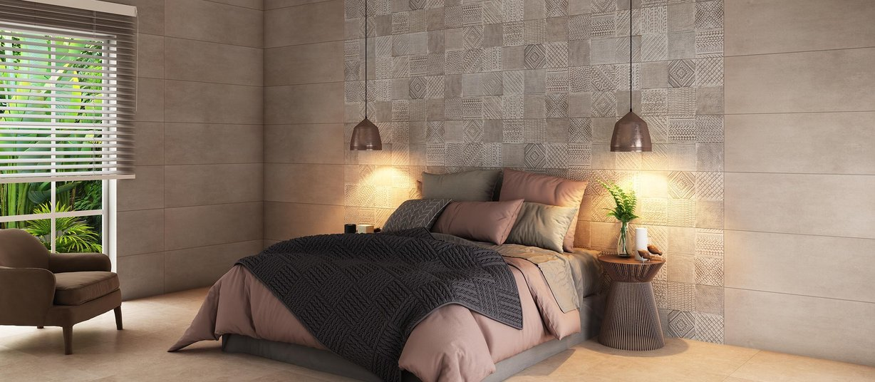 rosston Beige, Brown and Mix tiles Modern style Living