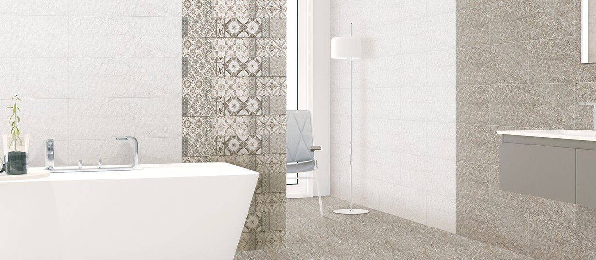 sandstone Mix tiles Modern style Bathroom