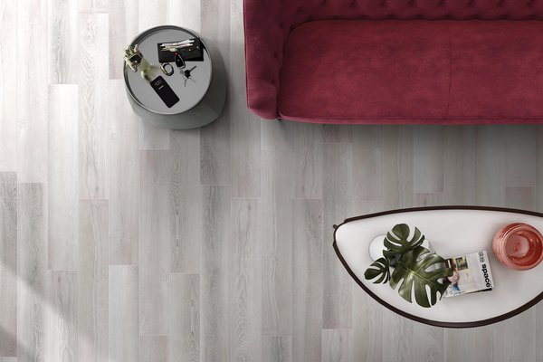 select wood Grey and White tiles Modern style Living