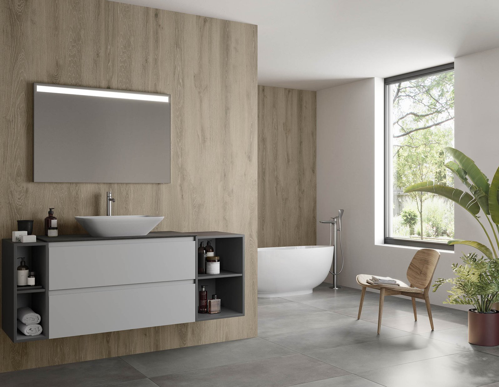Sigurt wood xl Beige tiles Modern style Living