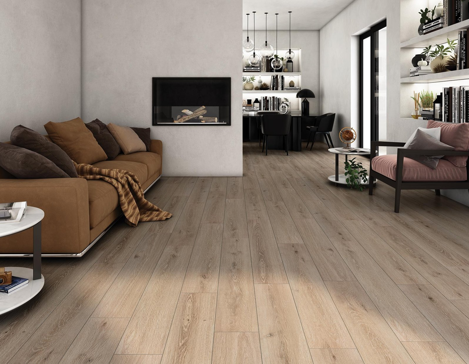 sigurt wood Brown tiles Modern style Living