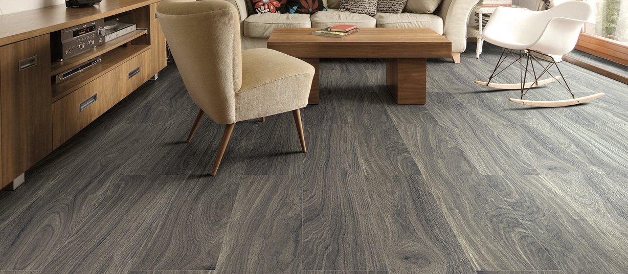 smoked Grey tiles Modern style Living