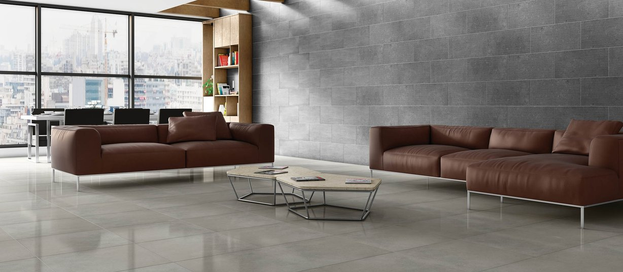surface 2.0 Beige and Grey tiles Modern style Living
