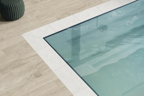 swimming pool Azul y Beige ceramica Moderno estilo Wellness and Swimming Pools