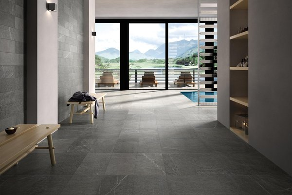 swimming pool Grigio piastrelle Moderno stile Wellness and Swimming Pools