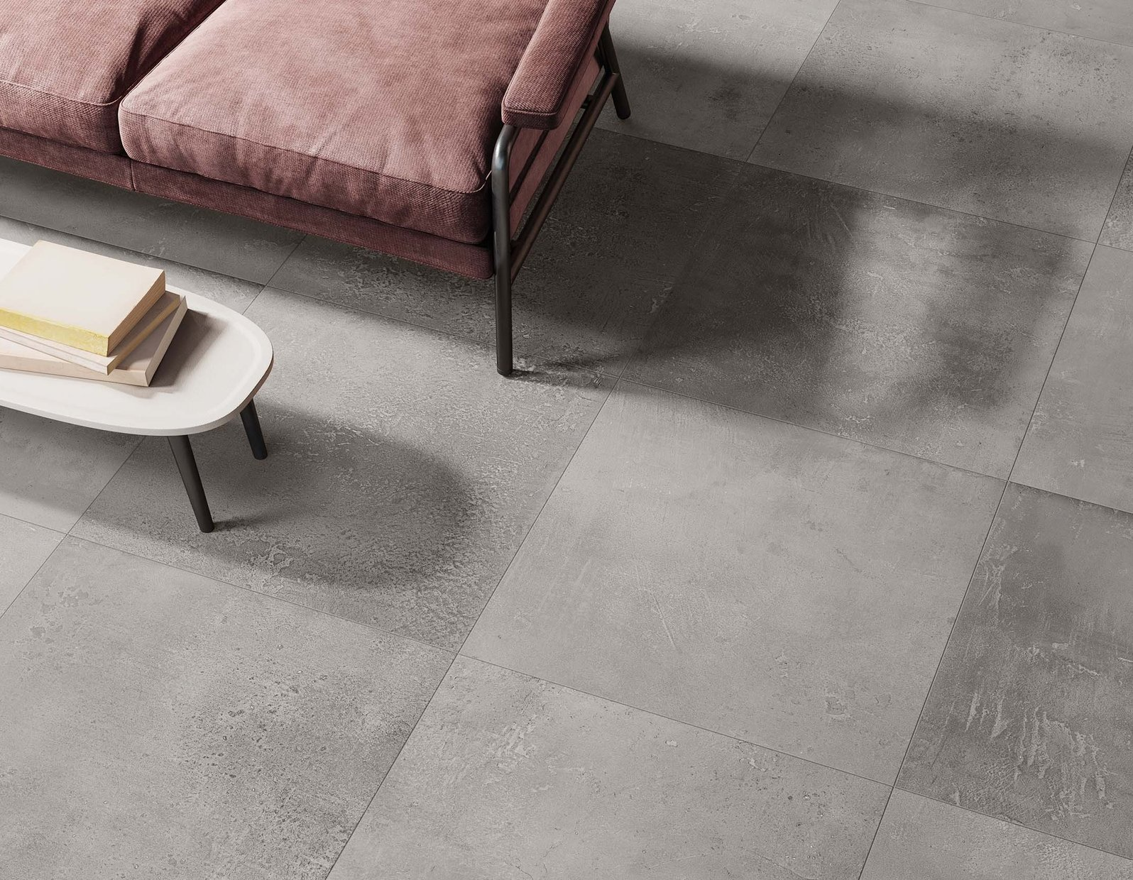 terra e metallo Brown, Grey and Ivory tiles Modern style Living