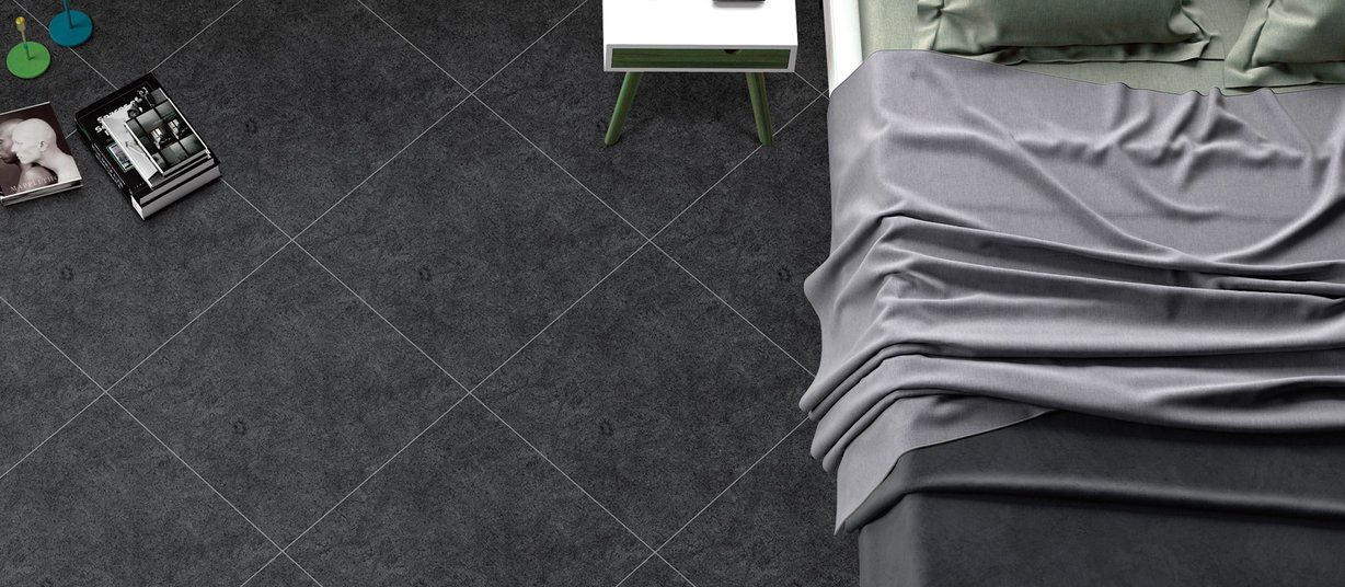 thunder Black tiles Modern style Living