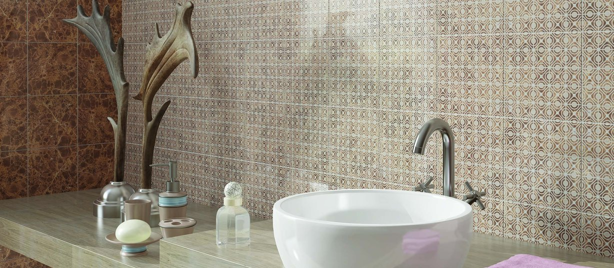 Tradizioni Beige, Brown and Mix tiles Modern style Bathroom