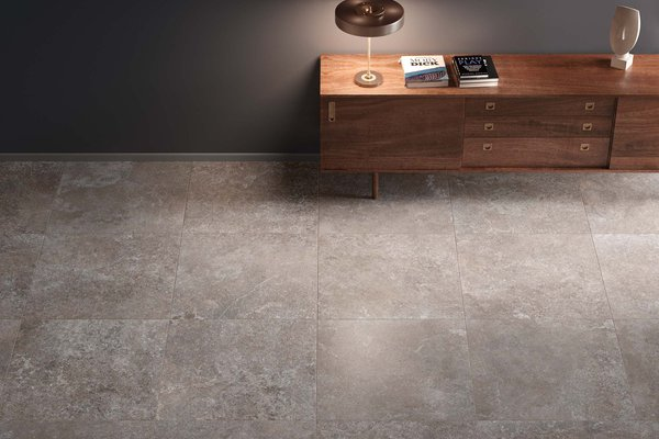 valley stone Grey tiles Modern style Living