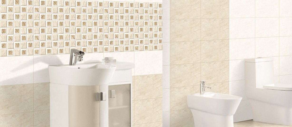 vibes Beige and Mix tiles Modern style Bathroom