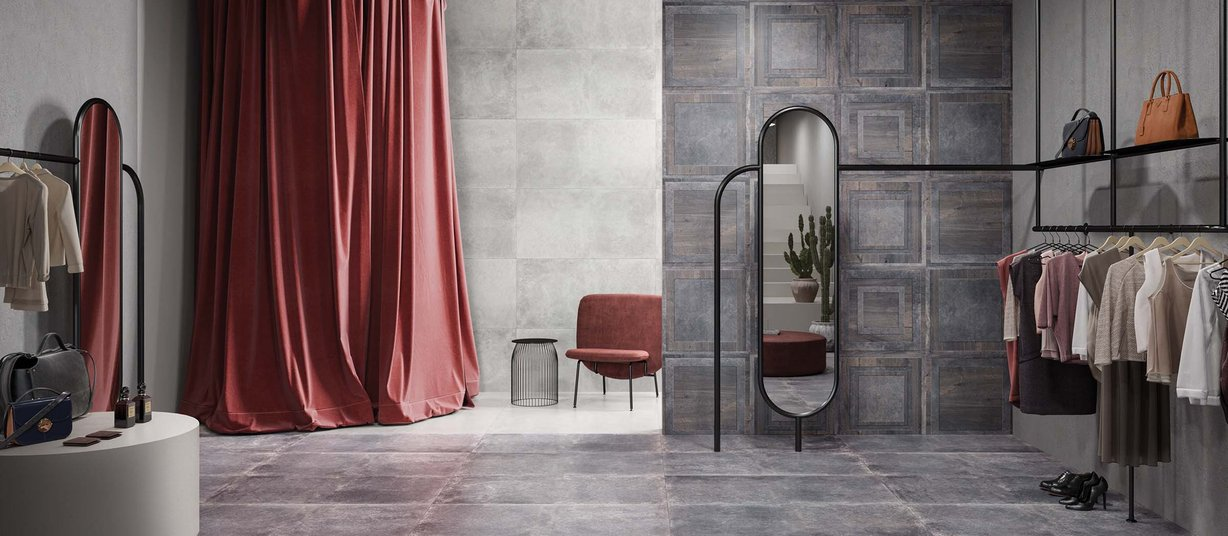 vouge Grey tiles Modern style Light Commercial