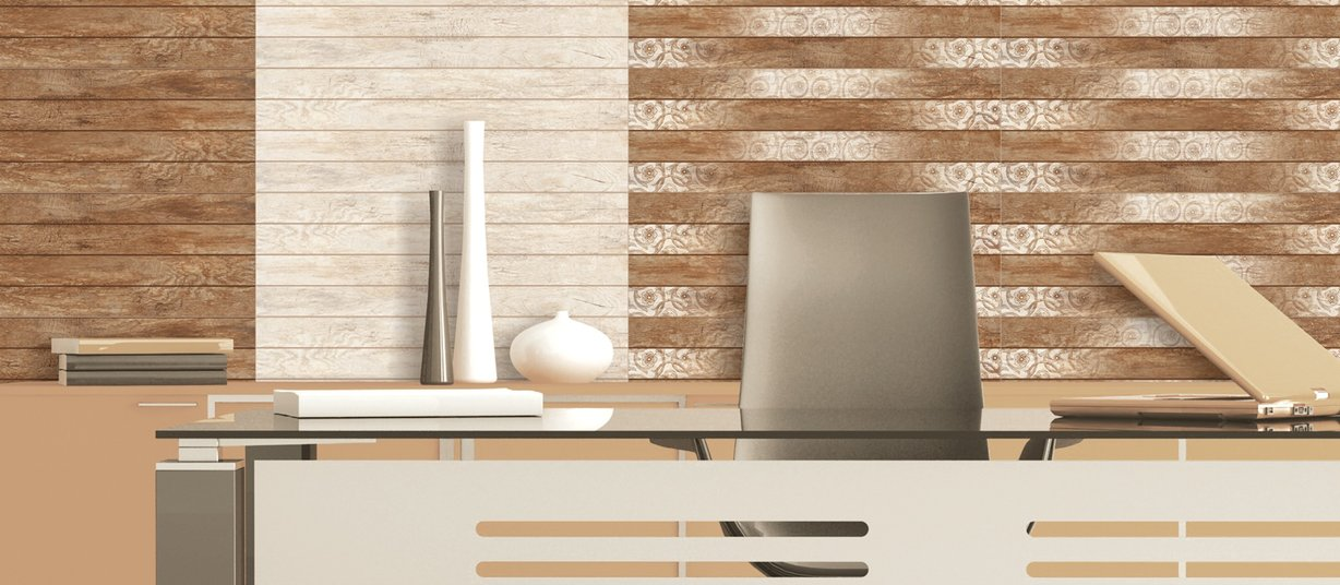 wood stripe Beige, Brown and Mix tiles Modern style Light Commercial